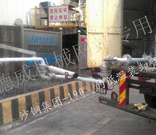 沙钢集团低温装卸臂-190°使用现场